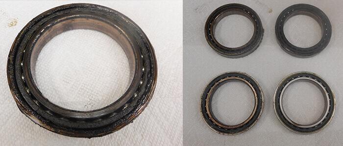 Umbra Spindle Repair and Rebuild_contaminated bearings