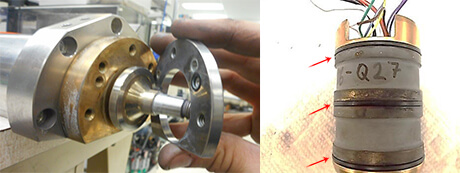 Colibri Spindle Repair and rebuild_inner axial bearing damage