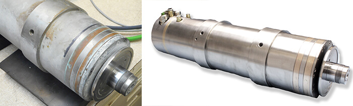 Loadpoint Spindle Repair and rebuild_before and after